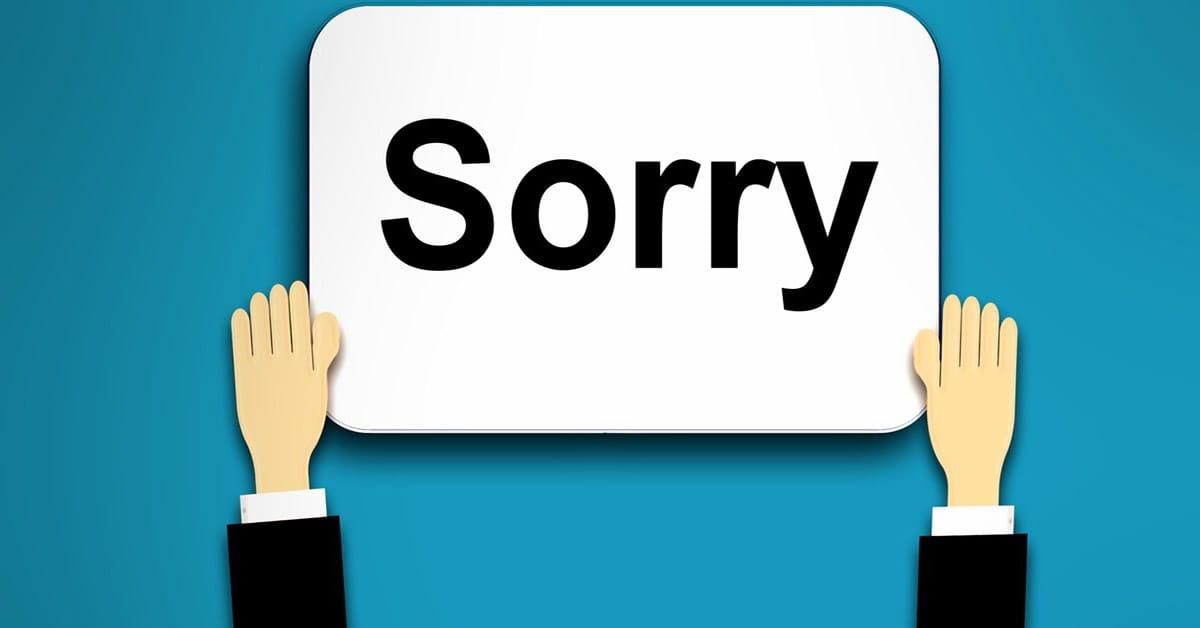public speaking apology